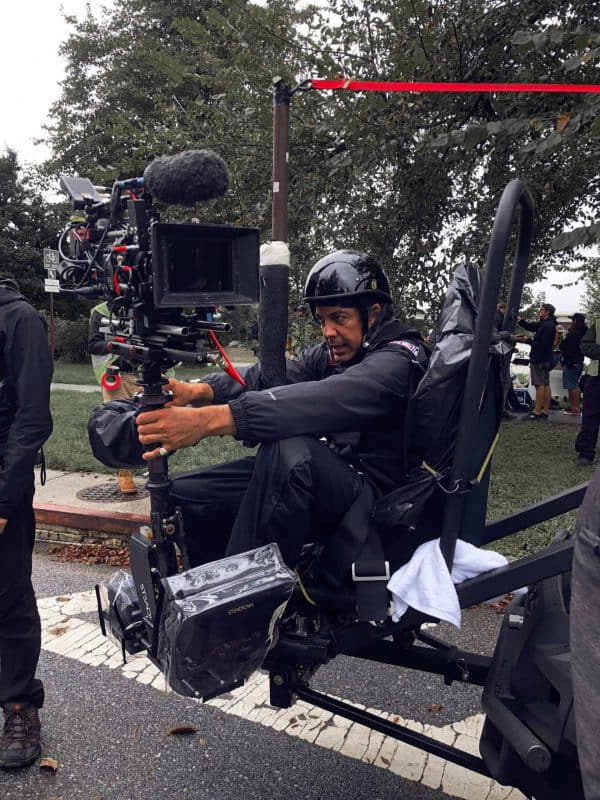 Steadicam Operator on Scorpius front shooting seat