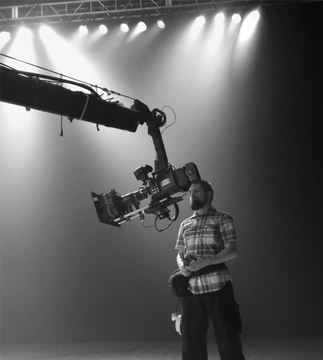 Jib Head with large camera and lens