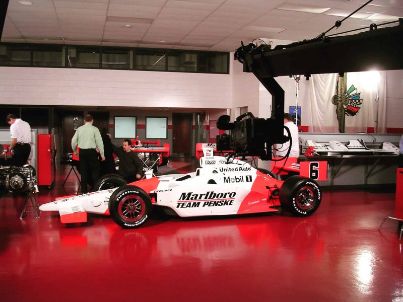 Jibbing an Indycar at Penske headquarters. Bucket list item, check