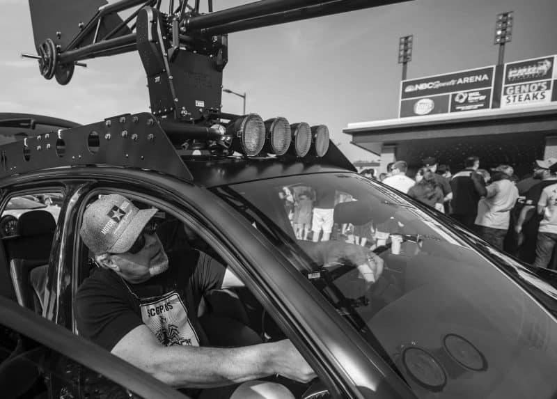 Jim in Camera Car