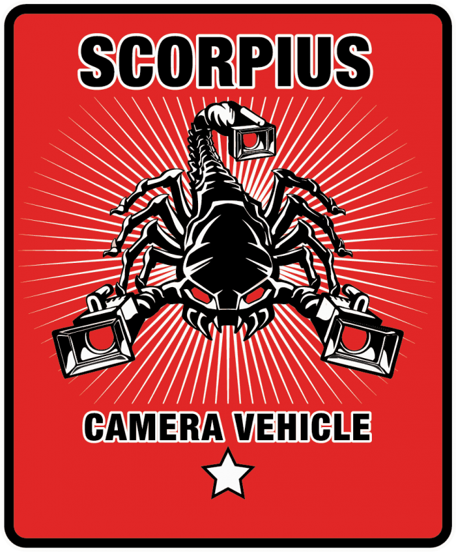 Scorpius camera vehicle logo