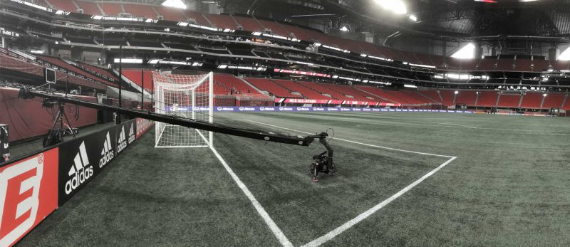 Motion House Jib shooting the MLS Allstar game