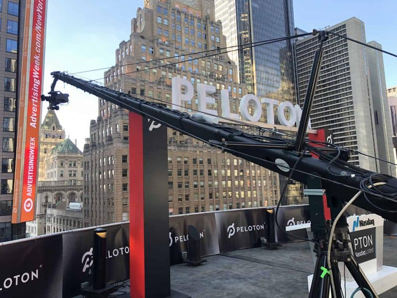 Jib with Peleton on the Nasdaq roof