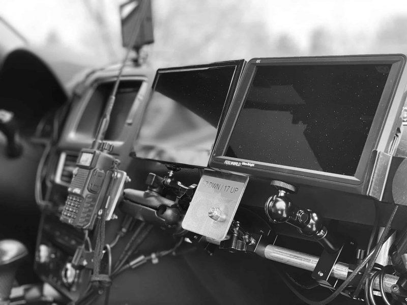 Mantis' Ultra arm op seat monitors