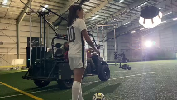 Scorpius tracking Carli Lloyd for Microsoft